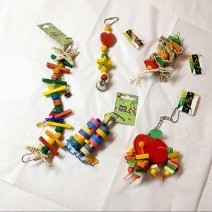 Small Pet Bird Parrot Toys 5 Pieces